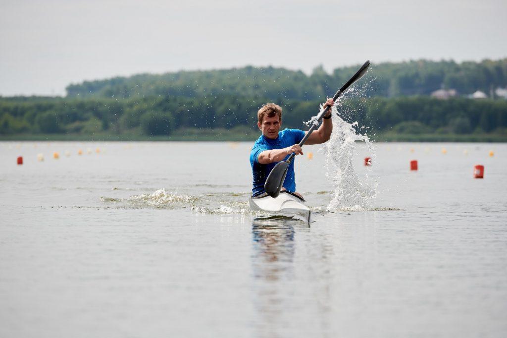 Canoe sport on the lake